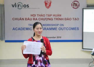 More than 100 Hue University officers and lecturers participate in training workshop on output standards