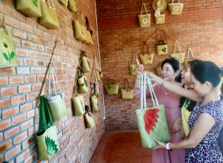 Pho Trach 'bang' grass (Lepironia articulata) traditional craft village introduces many eco-friendly products