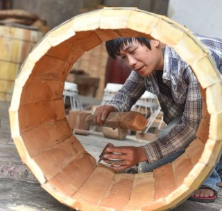 Meticulous drum-making craft