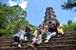 Approximately 1,000 guests come to Hue to visit, have fun and relax