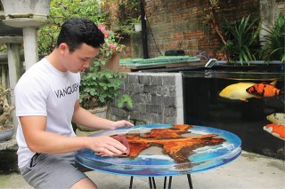 Being creative with epoxy resin glue