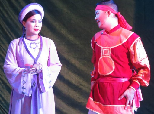 Predestined to be an actress of traditional theatre