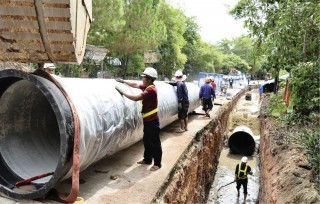 Bringing water supply up mountainous areas