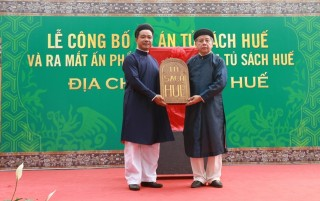 Announcement of Hue Bookcase project and launch of Hue Cultural Chorography
