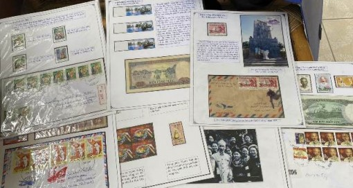 Passion on collecting stamp