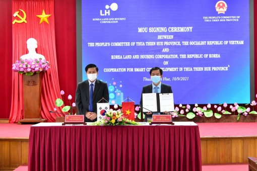 Signing cooperation agreement on smart city development with Korea